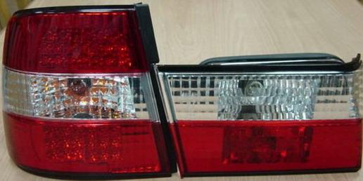BMW E34 Фонарь задний внешний+внутренний левый+правый (комплект)  (СЕДАН) тюнинг прозрачный с диодными стоп-сигналами хрустальные кр на BMW e34 (БМВ е34) - цена, наличие, описание