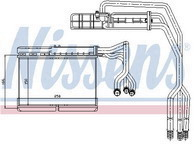 BMW E34 Радиатор отопителя на машину без кондиционера (NISSENS) (см.каталог) на BMW e34 (БМВ е34) - цена, наличие, описание