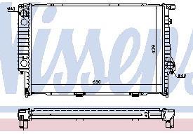BMW E32 {E34 87-95} Радиатор охлаждения  (NISSENS) (см.каталог) на BMW e34 (БМВ е34) - цена, наличие, описание