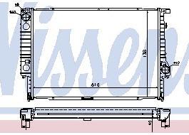 BMW E32 {E34 87-96} Радиатор охлаждения (NISSENS) (NRF) (GERI) (см.каталог) на BMW e34 (БМВ е34) - цена, наличие, описание