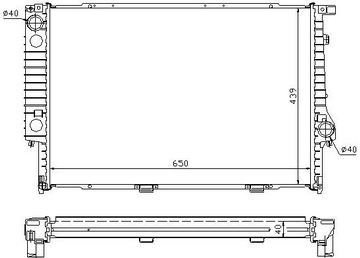 BMW E32 {E34 87-95} Радиатор охлаждения (см.каталог) на BMW e34 (БМВ е34) - цена, наличие, описание