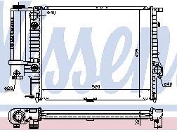 BMW E34 Радиатор охлаждения (NISSENS) (NRF) (GERI) (см.каталог) на BMW e34 (БМВ е34) - цена, наличие, описание