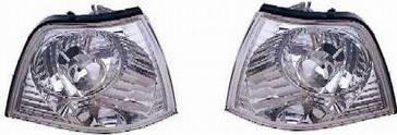 BMW E36 Указатель поворота угловой левый+правый (КОМПЛЕКТ) (СЕДАН) тюнинг прозрачный хрустальный внутри хром на BMW e36 (БМВ е36) - цена, наличие, описание
