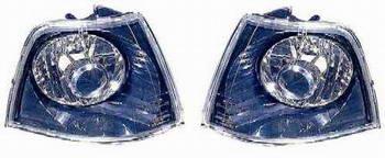 BMW E36 Указатель поворота угловой левый+правый (КОМПЛЕКТ) (СЕДАН) тюнинг прозрачный хрустальный внутри черный на BMW e36 (БМВ е36) - цена, наличие, описание