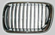 BMW E36 Решетка радиатора левая полностью хромированная на BMW e36 (БМВ е36) - цена, наличие, описание