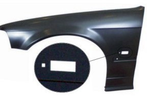 BMW E36 Крыло переднее левое (СЕДАН) (compact) с отверстием под повторитель на BMW e36 (БМВ е36) - цена, наличие, описание