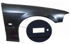 BMW E36 Крыло переднее правое (СЕДАН) (compact) с отверстием под повторитель на BMW e36 (БМВ е36) - цена, наличие, описание