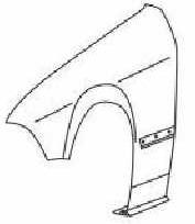 BMW E36 Крыло переднее левое (КУПЕ) (кабриолет) без отверстия под повторитель на BMW e36 (БМВ е36) - цена, наличие, описание