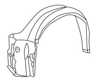 BMW E36 Подкрылок переднего крыла левый (СЕДАН) (compact) на BMW e36 (БМВ е36) - цена, наличие, описание