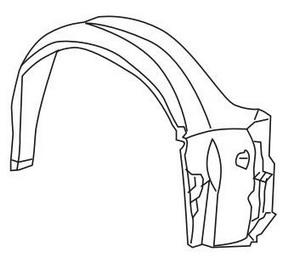 BMW E36 Подкрылок переднего крыла правый (СЕДАН) (compact) на BMW e36 (БМВ е36) - цена, наличие, описание