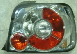 BMW E36 Фонарь задний внешний левый+правый (КОМПЛЕКТ) (compact) тюнинг прозрачный хрустальный красно-белый на BMW e36 (БМВ е36) - цена, наличие, описание