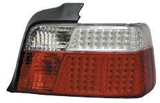 BMW E36 Фонарь задний внешний л+п (комплект) (СЕДАН) диодный стоп-сигнал, указатель поворота хрустальный красно-белый на BMW e36 (БМВ е36) - цена, наличие, описание