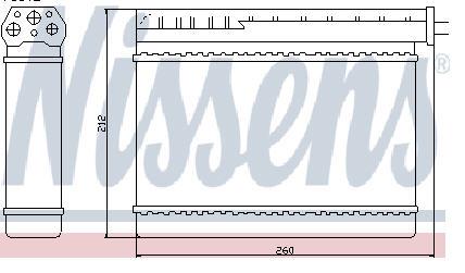 BMW E36 Радиатор отопителя (NISSENS) (см.каталог) на BMW e36 (БМВ е36) - цена, наличие, описание