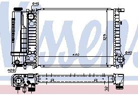 BMW E34 {E30/E36} Радиатор охлаждения (NISSENS) (NRF) (GERI) (см.каталог) на BMW e36 (БМВ е36) - цена, наличие, описание