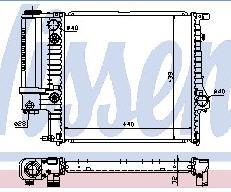 BMW E36 {E30 88-91} Радиатор охлаждения (NISSENS) (NRF) (GERI) (см.каталог) на BMW e36 (БМВ е36) - цена, наличие, описание