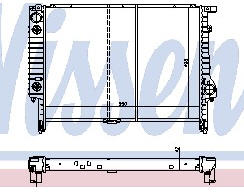 BMW E36 Радиатор охлаждения (NISSENS) (NRF) (GERI) (см.каталог) на BMW e36 (БМВ е36) - цена, наличие, описание