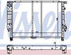 BMW E36 Радиатор охлаждения (NISSENS) (см.каталог) на BMW e36 (БМВ е36) - цена, наличие, описание