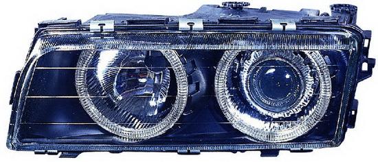 BMW E38 Фара левая+правая (КОМПЛЕКТ) с поворотником  (КСЕНОН) С -D1S- с блок упр. ксеноном  -PHILIPS с рег.мотор тюнинг линзован с 2 светящимися ободками внутри (ангельские глазки) на BMW e38 (БМВ е38) - цена, наличие, описание