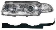 BMW E38 {ДИЗАЙН 99-01} фара+указатель поворота левый+правый (комплект) тюнинг линзованная с солдинг с 2 светящимися ободками внутри (ангельские глазки) хром на BMW e38 (БМВ е38) - цена, наличие, описание