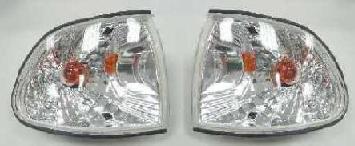 BMW E38 Указатель поворота угловой левый+правый (КОМПЛЕКТ) (СЕДАН) тюнинг прозрачный хрустал внутри хром на BMW e38 (БМВ е38) - цена, наличие, описание