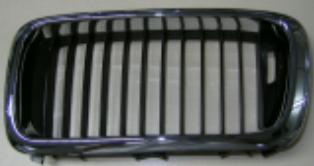 BMW E38 Решетка радиатора левая хром-черный (ноздри) на BMW e38 (БМВ е38) - цена, наличие, описание