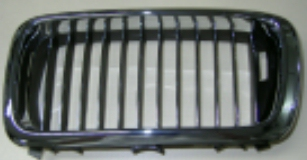 BMW E38 Решетка радиатора левая полностью хром на BMW e38 (БМВ е38) - цена, наличие, описание