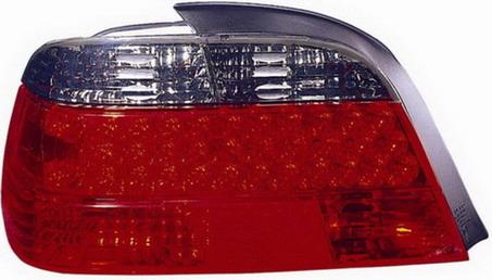 BMW E38 Фонарь задний внешний левый+правый (комплект) тюнинг прозрачный хрустальный с диодными габаритами красный-тонированный на BMW e38 (БМВ е38) - цена, наличие, описание