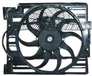 BMW E38 Электро-вентилятор радиатора кондиционера (мотор + вентилятор конденсатора кондиционера с корпусом) на BMW e38 (БМВ е38) - цена, наличие, описание