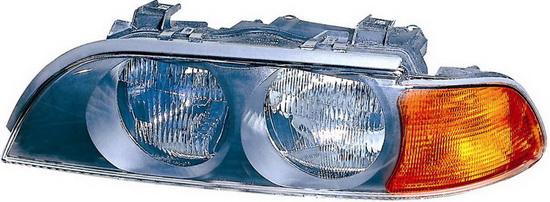 BMW E39 {H7/HB3} Фара левая (DEPO) п/корректор указатель поворота желтый на BMW e39 (БМВ е39) - цена, наличие, описание