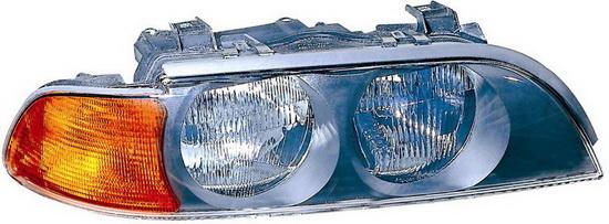 BMW E39 {H7/HB3} Фара правая (DEPO) п/корректор указатель поворота желтый на BMW e39 (БМВ е39) - цена, наличие, описание