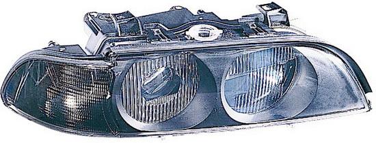 BMW E39 {HB3/HB4} Фара правая (DEPO) линзованная с рег. мотор, белый указатель поворота на BMW e39 (БМВ е39) - цена, наличие, описание