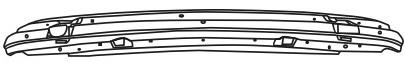 BMW E39 Усилитель заднего бампера (СЕДАН) на BMW e39 (БМВ е39) - цена, наличие, описание