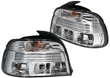 BMW E39 {дизайн под  LED} задний внешний фонарь левый+правый (комплект) полностью прозрачный хрусталь на BMW e39 (БМВ е39) - цена, наличие, описание