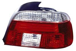 BMW E39 Задний внешний фонарь левый+правый (комплект) с диодными габаритами, прозрачный хрусталь красно-белый на BMW e39 (БМВ е39) - цена, наличие, описание