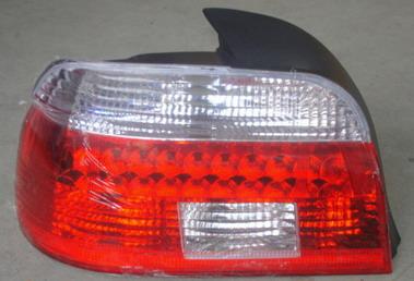 BMW E39 Задний внешний левый фонарь, габарит прозрачный хрустальный красно-белый на BMW e39 (БМВ е39) - цена, наличие, описание