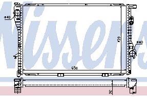 BMW E38 {E39 94-} Радиатор охлаждения (NISSENS) (NRF) (GERI) (см.каталог) на BMW e39 (БМВ е39) - цена, наличие, описание