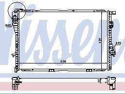 BMW E38 {E39 95-99}  Радиатор охлаждения (NISSENS) (NRF) (GERI) (см.каталог) на BMW e39 (БМВ е39) - цена, наличие, описание