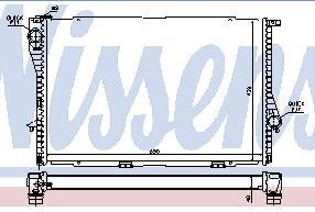 BMW E38 {E39 98-} Радиатор охлаждения (NISSENS) (NRF) (GERI) (см.каталог) на BMW e39 (БМВ е39) - цена, наличие, описание