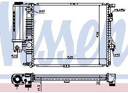 BMW E39 Радиатор охлаждения (NISSENS) (NRF) (GERI) (см.каталог) на BMW e39 (БМВ е39) - цена, наличие, описание
