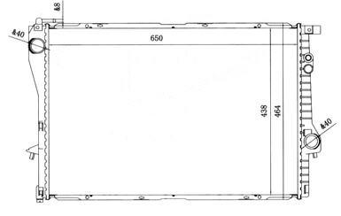 BMW E38 {E39 95-99} Радиатор охлаждения на BMW e39 (БМВ е39) - цена, наличие, описание
