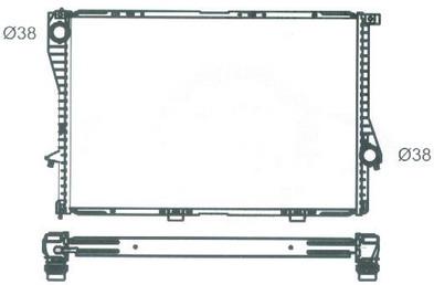 BMW E38 {E39 98-} Радиатор охлаждения (см.каталог) на BMW e39 (БМВ е39) - цена, наличие, описание
