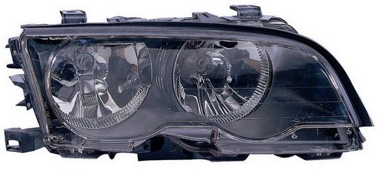 BMW E46 Купе, фара правая с корректором, черная внутри на BMW e46 (БМВ е46) - цена, наличие, описание