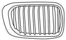 BMW E46 Купе, решетка радиатора правая на BMW e46 (БМВ е46) - цена, наличие, описание