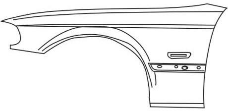 BMW E46 Купе, крыло переднее левое на BMW e46 (БМВ е46) - цена, наличие, описание