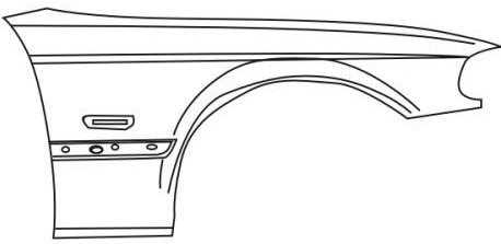 BMW E46 Купе, крыло переднее правое на BMW e46 (БМВ е46) - цена, наличие, описание