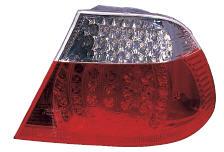 BMW E46 Купе, фонарь задний внешний левый+правый  (КОМПЛЕКТ) тюнинг диод ук.поворота стоп сигнал хрустальный красно-белый на BMW e46 (БМВ е46) - цена, наличие, описание
