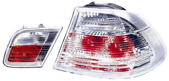BMW E46 Купе, фонарь задний внешний+внутренний левый+правый (КОМПЛЕКТ) тюнинг прозрачный хрустальный на BMW e46 (БМВ е46) - цена, наличие, описание