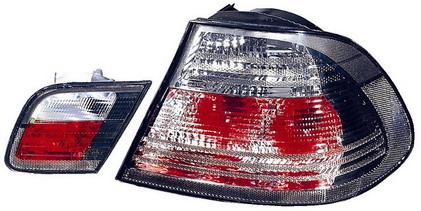 BMW E46 Купе, фонарь задний внешний+внутренний левый+правый (КОМПЛЕКТ) тюнинг прозрачный хрустальный тонированный на BMW e46 (БМВ е46) - цена, наличие, описание