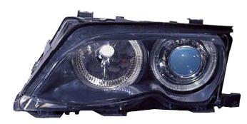 BMW E46 Фара левая+правая (КОМПЛЕКТ) (СЕДАН) (КСЕНОН) -D2S- с блок. упр. ксеноном с 2 светящимися ободками (ангельские глазки) с рег. мотор, черная внутри на BMW e46 (БМВ е46) - цена, наличие, описание