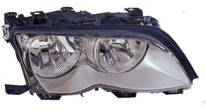BMW E46 Фара правая (Седан) с рег.мотором внутри хром на BMW e46 (БМВ е46) - цена, наличие, описание